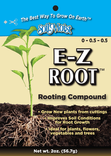 E-Z root front of bag